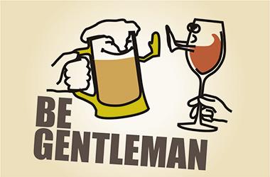 乾杯はグラスをぶつけないのがジェントルマン。