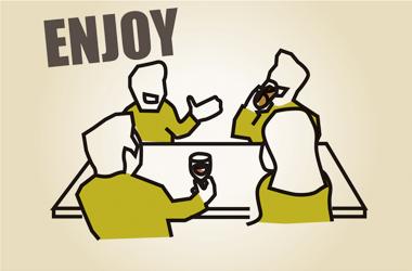 人数をチェックしよう。目安は3人までならカウンターで、それ以上はテーブル席のあるBarへ。