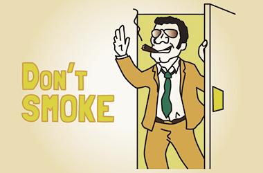 たばこを吸いながら入店&店内をうろうろするなかれ。