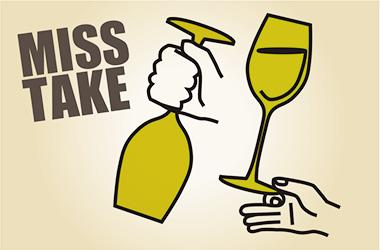 正しいグラスの持ち方を押さえておこう。