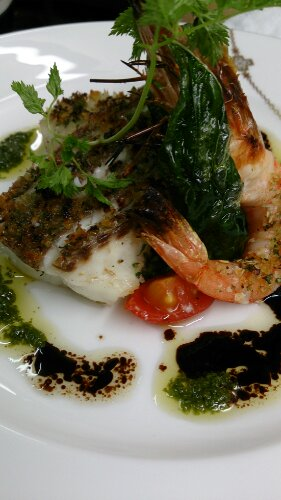 真鯛の香草オリーブオイルや焼き
